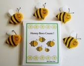 Honey Bees Count! Signed Original Story Book with 5 Bee Finger Puppets