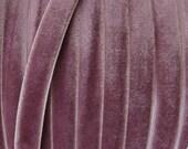 3 Yards Velvet Ribbon Trim In Dusty Lilac .25 Inch Wide 1/4 Inch Wide