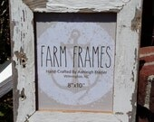 8 x 10 WHITE old vintage wood picture frame