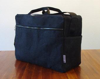 Black Waxed Canvas Heavy Duty Travel or Work Bag