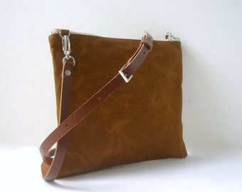Crossbody Bag, Purse, Waxed Canvas Bag, Simple Cross Body Bags