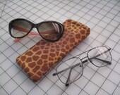 giraffe eyeglass readers sunglass case exotic eyewear cover