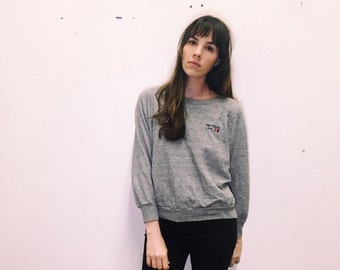 1980s Soft Heathered Grey Sweatshirt Size S