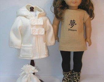 18 Inch Doll Clothes Jacket Boots Hat Leggings Mittens  1742 Fits American Girl