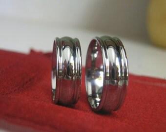 Titanium Ring SET, Matching Bands, Wedding Rings, Polished Finish