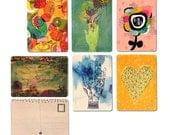 6 x Wooden Postcards