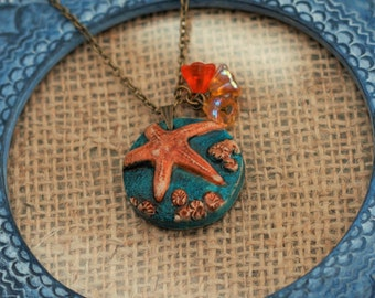 Starfish Necklace, Star Fish Pendant, Jewelry from the Sea, Animal Necklace