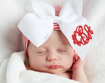 Monogrammed Bow Hat