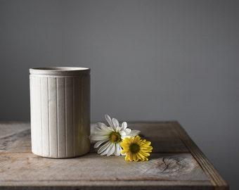 Antique Stoneware Crock, White Stoneware, Stoneware Crock, Vintage Kitchen Storage, Kitchen and Dining, Jars and Containers,