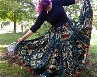 2 Tier Extra Long Gypsy, or Mock Bustle Back Skirt