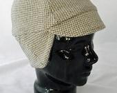 Zigzag Herringbone Winter Bike Hat (S) of Recycled Cotton Knit