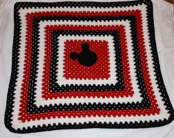 Crochet Baby Afghan with Mickey Mouse