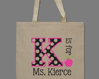 Personalized Teacher Tote Bag Teacher Gift