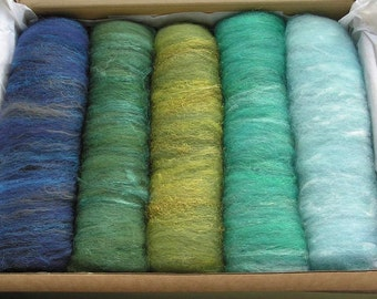 150g Drum Carded Batts - Marine