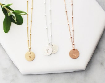 Petite Initial Necklace, Personalized Necklace 1, 2 or 3 Initials Necklace, Gold Necklace Everyday Necklace, Mothers Necklace, Initial Charm