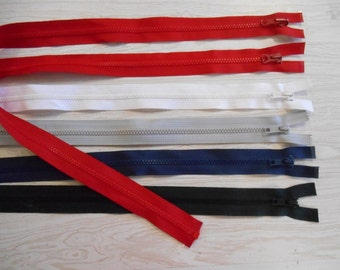 BULK 200 plastic separating zipper YKK Ideal & Talon red gray white blue black 31.99 free ship
