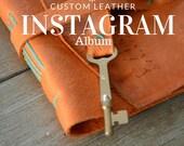 Instagram Photo Album for Valentines Day Burnt Orange Leather