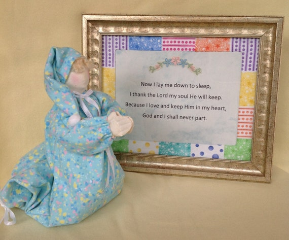 Mailed Cloth Doll Pattern Praying Child and Bedtime Prayer