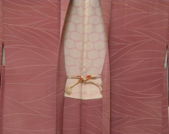 Vintage haori S60, purple pink base,