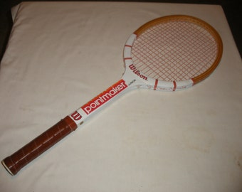 Vintage Pointmaker Jr 4 1/4 Wilson Wooden Tennis Racquet (Court)