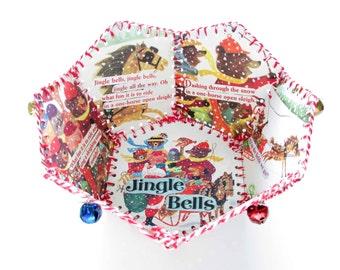 Paper Basket, Vintage Little Golden Book, Jingle Bells
