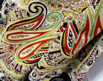 Chiffon Scarf Paisley Long Scarf Wrap Stole Chiffon Silk