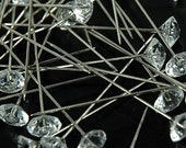 """2"""" Clear Diamond Corsage Pins - Pack of 144 Pins"""