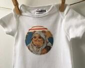 Ewok Bodysuit - Ewok Baby Shower Gift - Vintage Star Wars - Star Wars Baby Shower - Size 6-9 months