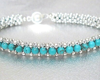 turquoise bracelet genuine turquoise bracelet sterling silver turquoise gemstone festival jewelry southwestern jewelry boho bracelet