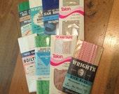 Vintage Sewing Lot of Rick Rack, Lace Hem Facing & Seam Tape, Bias Tape, Seam Binding and Twill Tape