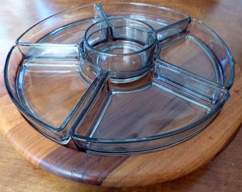 Vintage Digsmed Lazy Susan Danish Mid Century Modern Condiment Tray Danmark