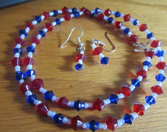 glass red whit blue