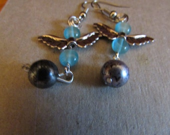blue beads with wings