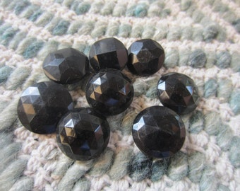 Vintage Buttons - lot of 7 assorted black  jet novelty glass, old and sweet,Victorian (lot jun20c )