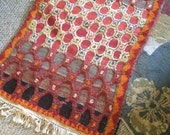 Red and Black Glaoui Moroccan Rug