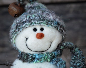 Needle Felted Snowman | felted wool snowmen  764
