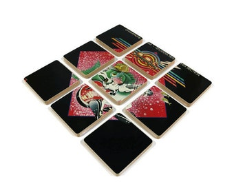 Atlanta Rhythm Section recycled 1978 album cover wood based coasters with wacky vinyl bowl