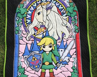 Legend of Zelda Stained Glass Quilt
