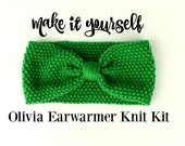 Olivia Earwarmer Knit Kit - Easy Knit Kit - Optional Project Bag - Universal Yarns - Uptown Worsted - FREE KNITTING NEEDLES