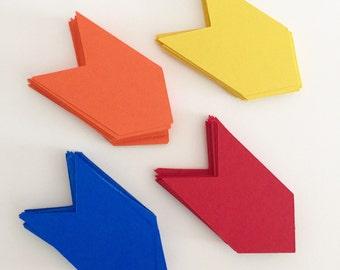 Confetti Arrows / kids party / Table Scatter / Arrowheads / Paper party Decor / Prop