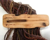 Medium Hair Barrette, Driftwood, lifetime guarantee, NO GLUE, natural hair accessory, long thick hair, wooden jewelry, french clip