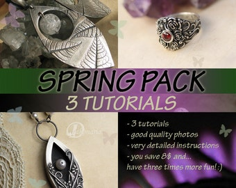 3 TUTORIALS Winter VALUE Pack metal clay