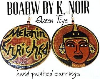 Melanin Enriched (Queen Tiye) Earrings