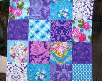 32x32 Purple & Blue Jennifer Paganelli Baby Blanket Ready to Ship