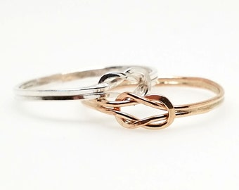Made To Order Knot an Ordinary Kind of Love Shibari Themed 14kt Sterling Silver OR Gold Filled Knot Ring