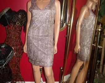 Vintage 80-90s  Lace Fringes  Dress  20's Theme Size S