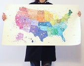 Illustrated Map of The United States of America (36x20)