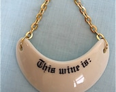 Vintage Porcelain Wine Bottle Tag