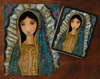 Virgen de Guadalupe - Art Puzzle - Folk Art By FLOR LARIOS