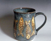 Coffee,tea mug with Herrings Made to order